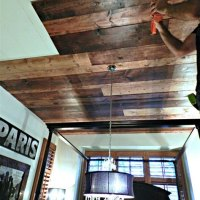 Diy Wood Ceiling Planks